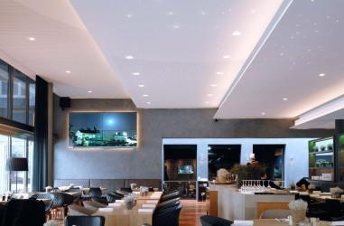 Luminaire intérieur design forme soucoupe blanc