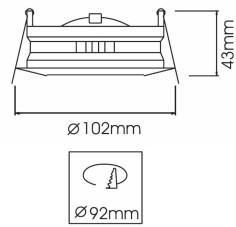 Lampe de bureau LED tactile blanche