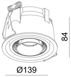 Lampe de bureau LED design ronde blanche